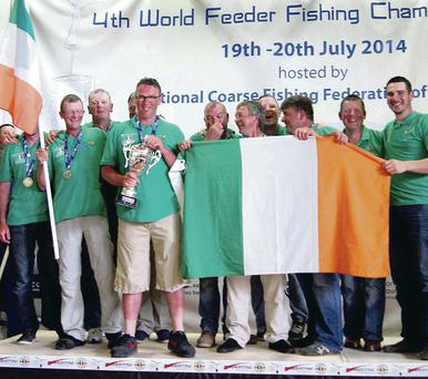 Prize guys: Garbolino Team Ireland celebrate silver medal success at the World Feeder Championships in Cork