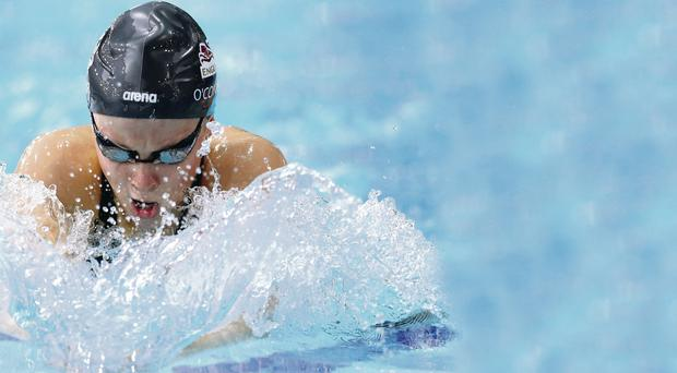 Pushing hard: England's Siobhan-Marie O'Connor who won her first gold of the Games