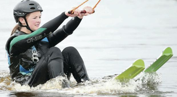 Making waves: Ali Gordon tries her hand at wakeboarding ahead of the 2014 Irish Cable Wakeboarding Championships