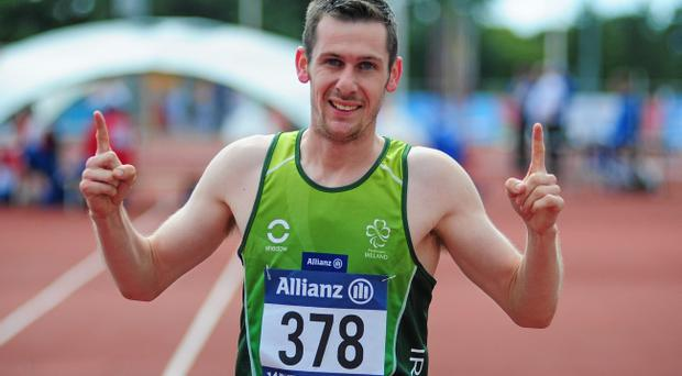 Top man: Michael McKillop won a gold medal at the European Championships yesterday