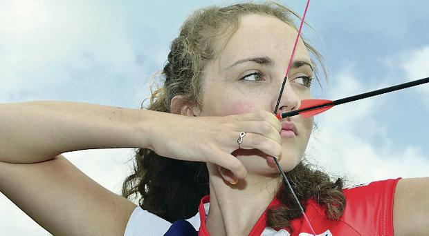 On target: Sophie Benton won Silver Medal in the Junior Ladies Barebow World Archery Field Championships