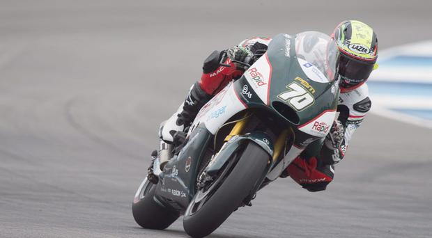 Quick start: Michael Laverty dropped behind on the straights after an early surge