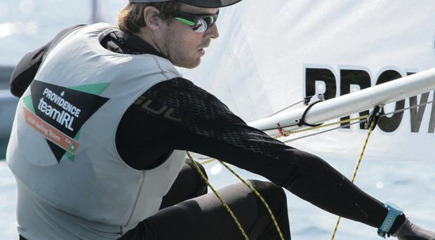 Plain sailing: James Espey qualified for the Gold fleet in the Laser Standard class for the 2016 Rio Olympics