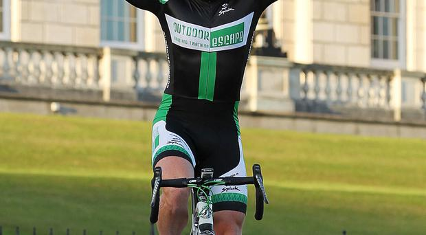 Damien Shaw rose to the challenge taking first place on the podium on Stage One of the AmberGreen Energy Tour of Ulster