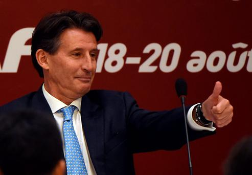 Top pick: Former Olympic 1500m champion Lord Coe is the new president of the IAAF, the body that governs world athletics