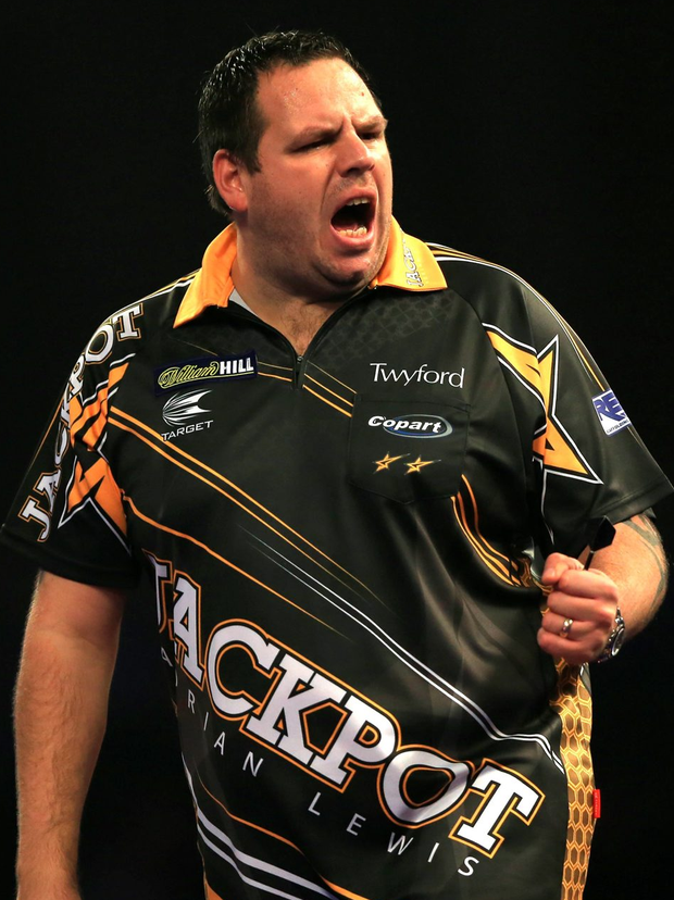 Adrian Lewis during day seven of the William Hill PDC World Championship at Alexandra Palace, London. PRESS ASSOCIATION Photo. Picture date: Wednesday December 23, 2015. See PA story DARTS World. Photo credit should read: Adam Davy/PA Wire. Use subject to restrictions. Editorial use only. No commercial use. Call +44 (0)1158 447447 for further information.