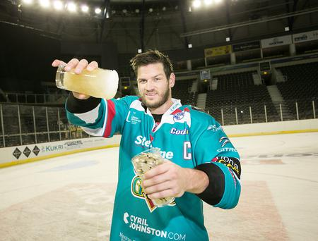 a Line Belfast Giants Captain Adam Keefe has joined forces with Northern Irelands leading Autism charity, Autism NI, to put a freeze on alcohol for the month of October and is encouraging all fans to become a sober supporter and join him in his challenge to Dont DrinkDonate. Sign-up now at www.autismni.org or donate to Adam via his JustGiving page: justgiving.com/Adam-Keefe1. For further info tel: 028 9040 1729 or email Sarah-Jayne@autismni.org.
