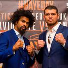 Nice touch: David Haye is raising funds for Nick Blackwell