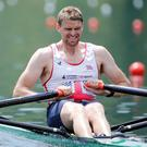 Single sculler Alan Campbell started well but eventually had to settle for fifth place