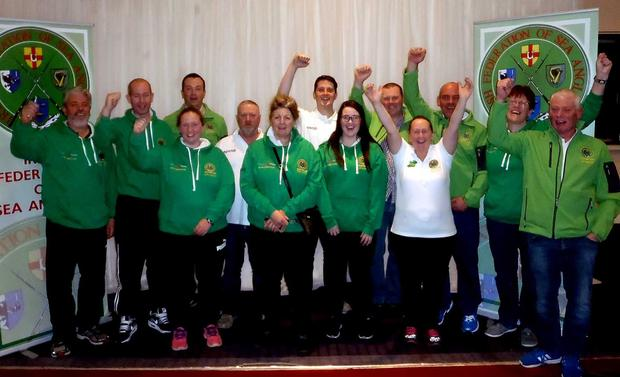 Delight: Irish team members celebrate World success in Wexford
