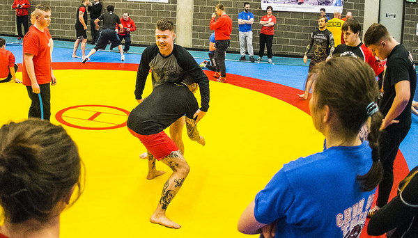 Getting to grips: UFC fighters with kids from Belfast's Redhog Wrestling Club