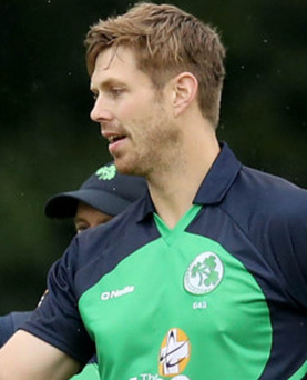 Chilling out: Ireland fast bowler Boyd Rankin