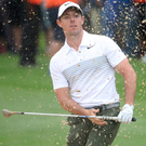 Back at it: Rory McIlroy impressed on his return from a rib injury