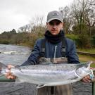 What a catch: Joe Broderick with his 10lb 8ozs River Drowes salmon