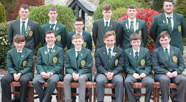 Team players: the IFSA Junior and Youth teams for the 2017 World Junior Shore Angling Championships... Stephen Birney, Sean Carley, Killian Farrelly, Conor O'Leary, Jordan Muir, Ryan Blair, Finian McCarthy, Sean Cushen, Darragh Byrne, David Farrelly, Jake Melly and Evan Ryan