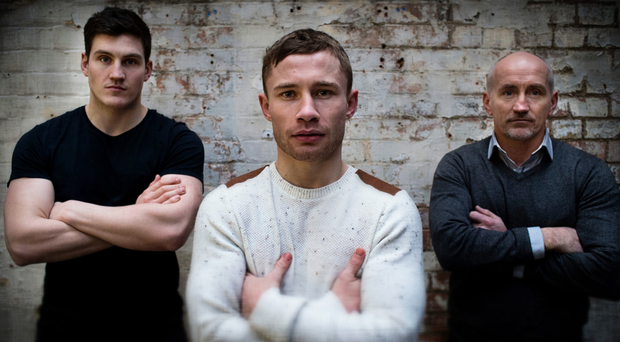 Happier times: Shane McGuigan, Carl Frampton and Barry McGuigan scaled the summit as a team, but will now take different paths