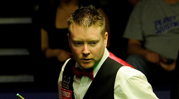 Back at it: Gerard Greene beat Ken Doherty yesterday