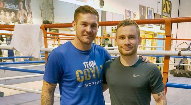 Dream team: Jamie Moore and Carl Frampton in training camp at Moore's base in Salford