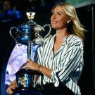 Controversy: Maria Sharapova in Melbourne yesterday