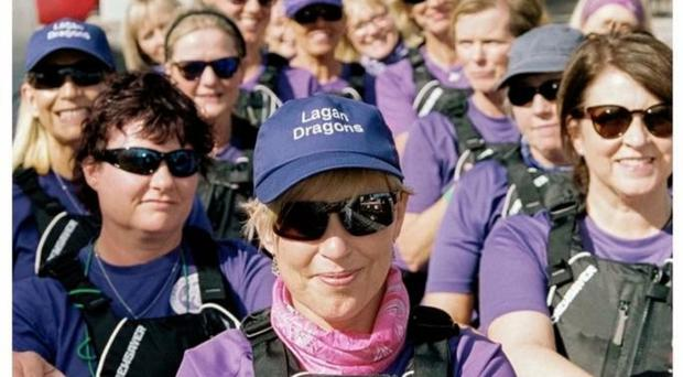 Founding force: Joanne Rock with the Lagan Dragons boat club