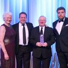 Fame game: Last year's Hall of Fame inductee with Dame Mary Peters and Joe Swail
