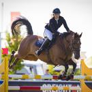 Right balance: Kerry Brennan on Wellington M at the Balmoral Show yesterday