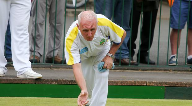 Silver lining: Robert Hastings won the fours at Bangor