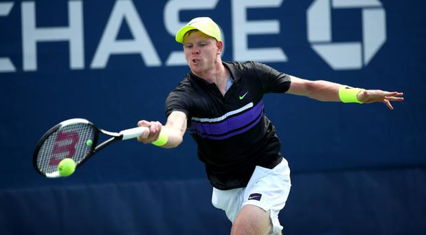 Marching on: Kyle Edmund will face Diego Schwartzman in the next round in Paris