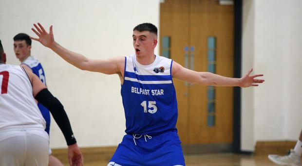 Stepping up: Liam Pettigrew has been impressing in the Belfast Star defence this season