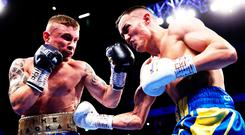 Painful loss: Carl Frampton returns to the ring on Saturday night for the first time since losing to Josh Warrington