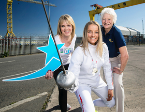 British Youth Championship fencer Charlotte Slater (16), from Lisburn, helped launch Dale Farm FutureStar Award alongside Dale Farm's Caroline Martin and Dame Mary Peters
