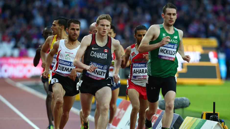 On track: Michael McKillop in the World 1,500m final in 2017