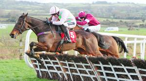 Ruby Walsh takes charge at the last on Douvan