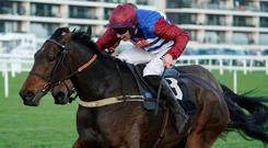 Out in front: Azzerti, with Adrian Heskin aboard, on the way to winning earlier this month at Newbury