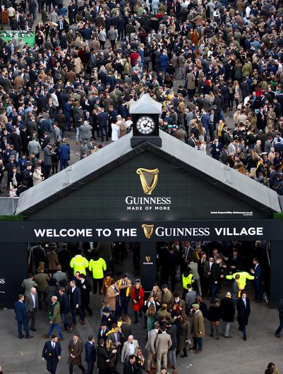 The Guinness Village is always a popular hang-out (Tim Goode/PA)
