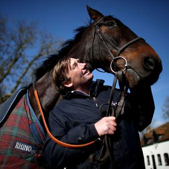 Nicky Henderson with his pride and joy, Sprinter Sacre
