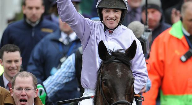 Solwhit finished strongly to win the World Hurdle at Cheltenham