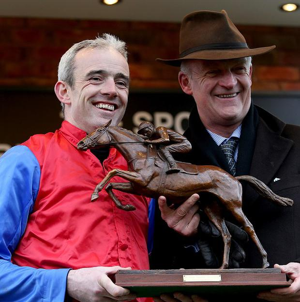 Ruby Walsh (left) and Willie Mullins combined again for victory