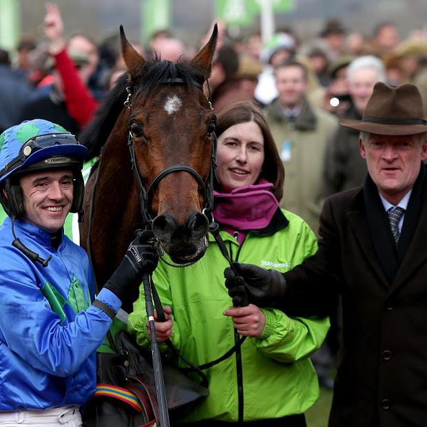 The Hurricane Fly team after his Cheltenham victory in March