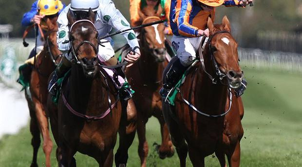 Sugar Boy (left) wins at Sandown
