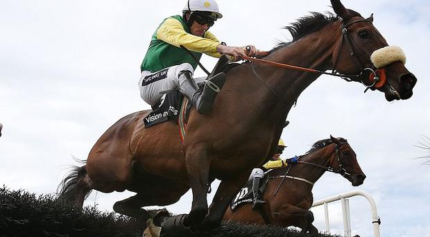 Busted Tycoon jumps the last on her way to victory