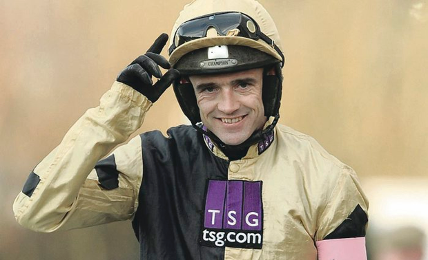 Happy family: Leading jockey Ruby Walsh should win on his father Ted's horse Rossvoss on Ladies Day at Downpatrick