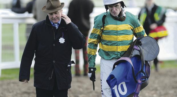 It proved a frustrating day for Tony McCoy and trainer Jonjo O'Neill at Exeter