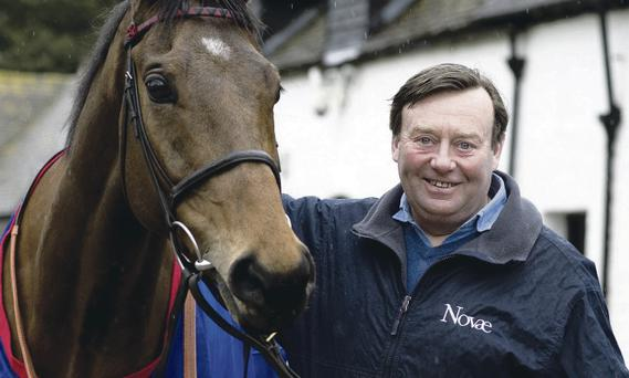 Winning pair: Trainer Nicky Henderson with Bobs Worth