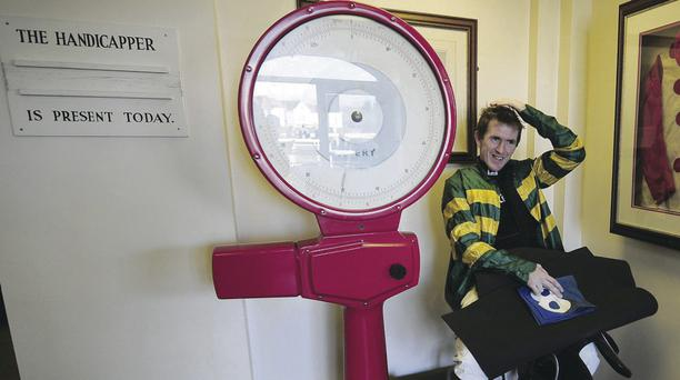 AP McCoy weighs in at Catterick Bridge yesterday
