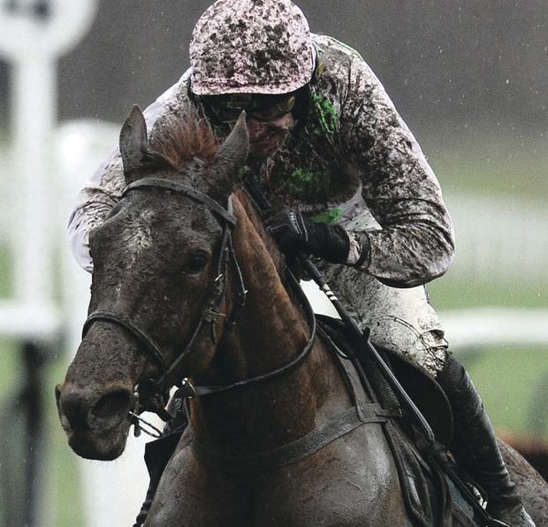 Ruby Walsh crosses the line to win the Dornan Engineering Hurdle with Annie Power