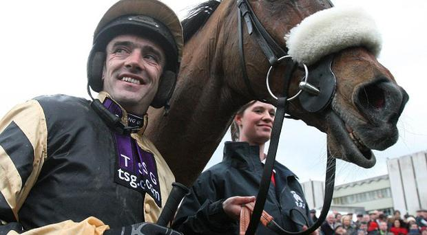 Tidal Bay and Ruby Walsh will be back together for Sunday's Hennessy Gold Cup