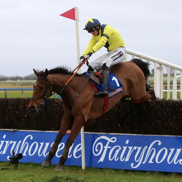Mount Benbulben ridden by Danny Mullins during The At The Races Bobbyjo Steeplechase at Fairyhouse Racecourse, Ratoath, Ireland.