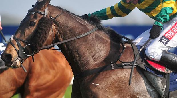 Barry Geraghty rides Shutthefrontdoor to victory in the Boylesports Irish Grand National