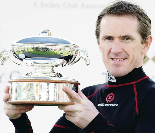 Champion again: Tony McCoy at Sandown on Saturday